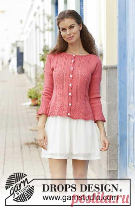 Miss Flora cardigan - the blog of experts of online store of a yarn 5motkov.ru