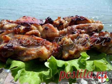 Шашлык из курицы в луковом маринаде