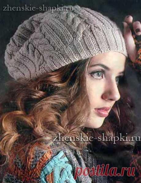 Шапка с косами спицами вязание шапки и описание