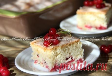 Пирог с ягодами со сметанной заливкой. Автор: Вероника Крамарь