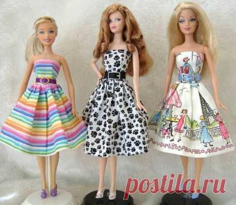 Шьем кукольные платья. Сохраняйте идеи и выкройки