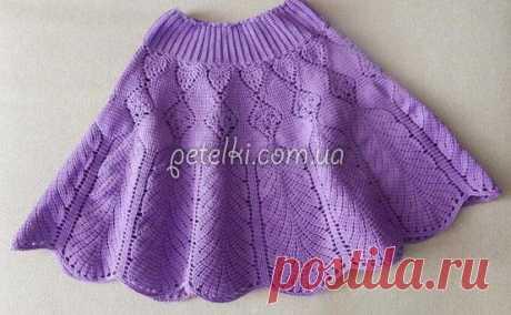 Красивая детская юбочка крючком. Много схем
