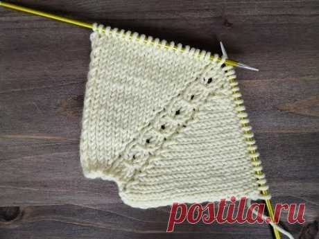Регланная линия спицами для вязания реглана сверху