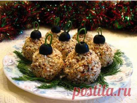 """Праздничная закуска """"Елочные шары"""" - берите на заметку к Новому году! Рецепт под фото."""