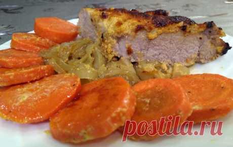 Мясо в духовке в чесночном коконе со сливочной морковкой – пошаговый рецепт с фотографиями