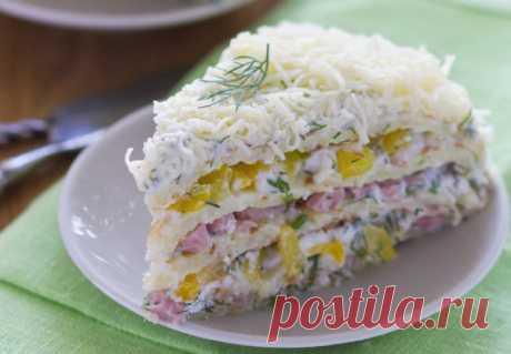 Закуски высшего уровня: 3 варианта, как приготовить несладкие торты • Сияние Жизни