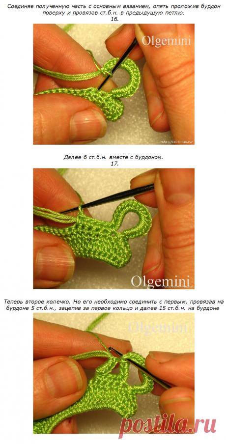 7    вязание на бурдоне