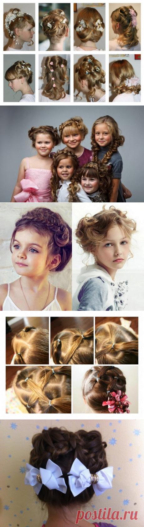 Красивые прически для девочек в школу разного возраста - фото, новинки, идеи прически на каждый день
