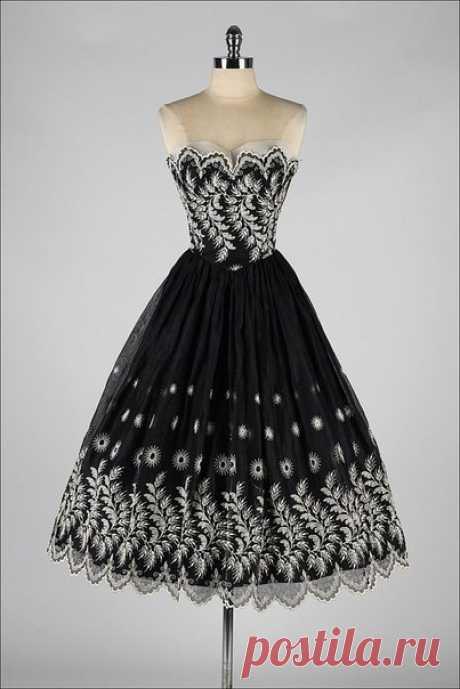 Черно-белые винтажные платья — Модно / Nemodno