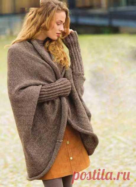 Просторный жакет-кокон с рукавами спицами – простая выкройка с описанием - Пошивчик одежды Отличная модель просторного жакета для женщин, ценящих сочетание стиля и комфорта, удобства и моды. Такие модели еще называют «шраг». На пике популярности они