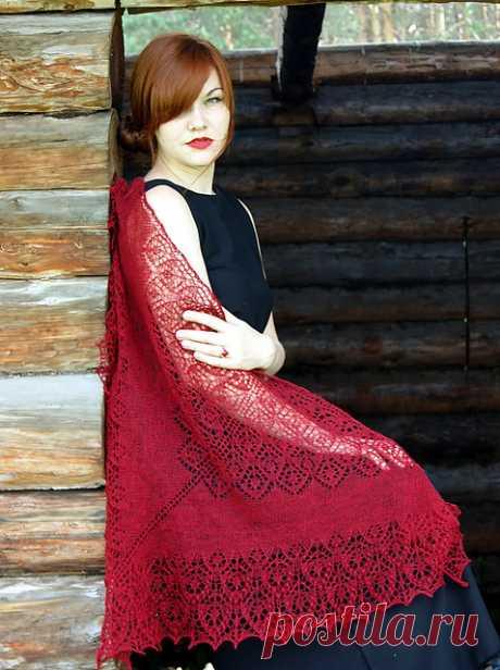 Дизайнерская шаль Софья. Sofia knitting shawl.
