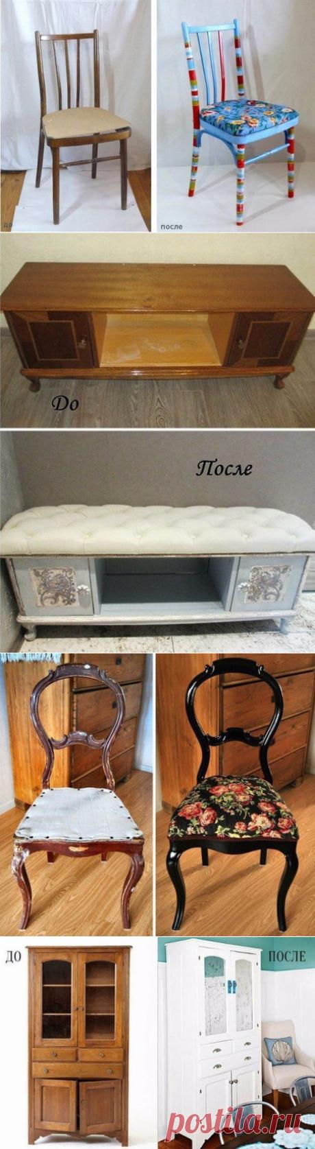 Идеи с реставрацией старой мебели