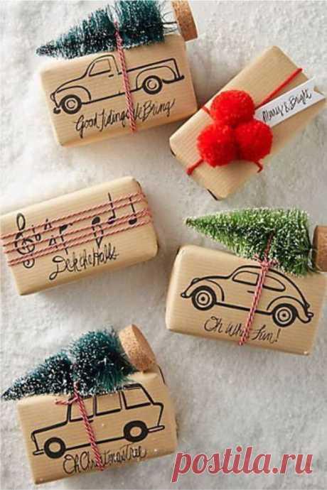 Несколько интересных идей упаковки новогодних подарков - Ярмарка Мастеров - ручная работа, handmade