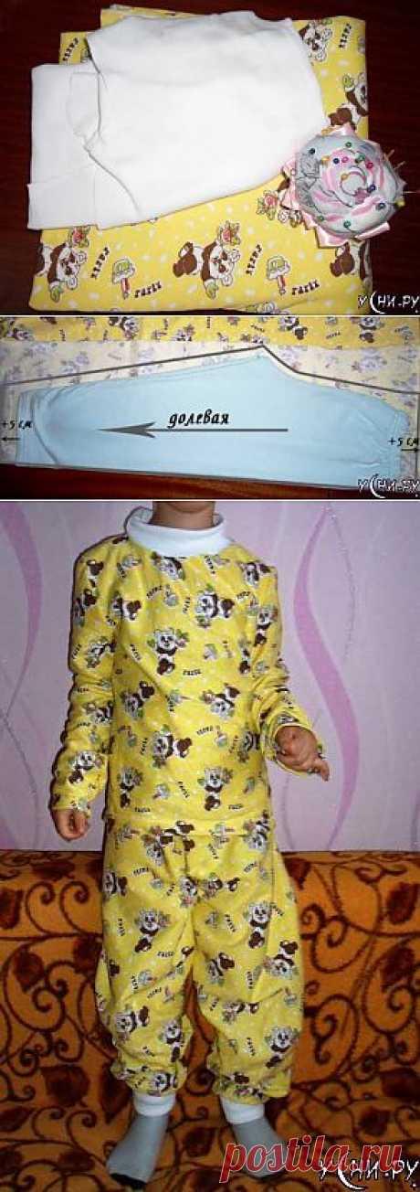 Как сшить теплую пижаму для ребенка