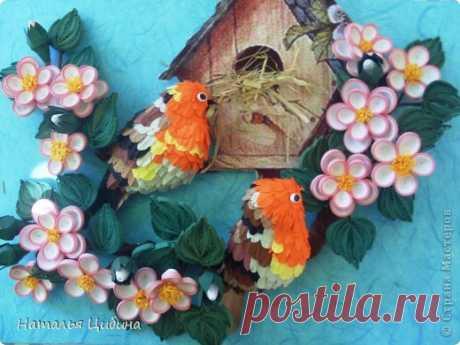МК птички из бумаги от Натальи Цибиной