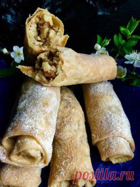 Нежное тесто и ореховая начинка. Готовим печенье-Бармак. ГОТОВИМ БЕЗ ХНЫКОВ
