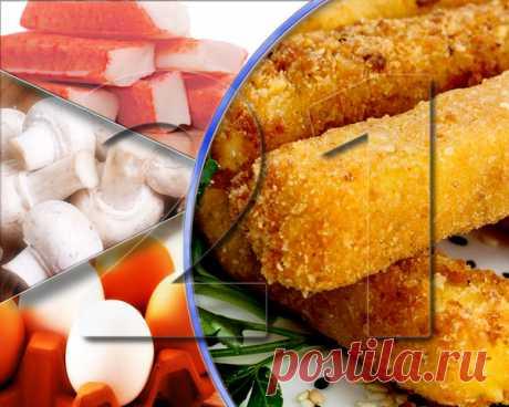 21 праздничная закуска: крабовые палочки с грибами в панировке (№4) | Рецепты старого дома | Яндекс Дзен