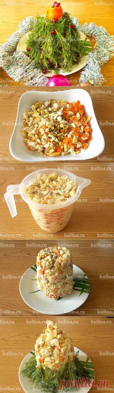 """Салат """"Елочка"""" – рецепт приготовления с фото от Kulina.Ru"""