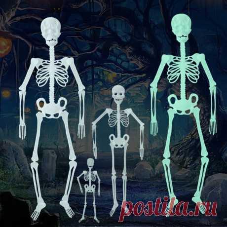 Halloween luminous skeleton haunted house horror decorations for outdoor yard garden hanging Sale - Banggood.com