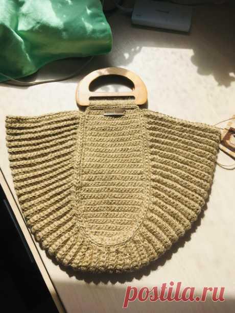 Джутовая сумка-корзина