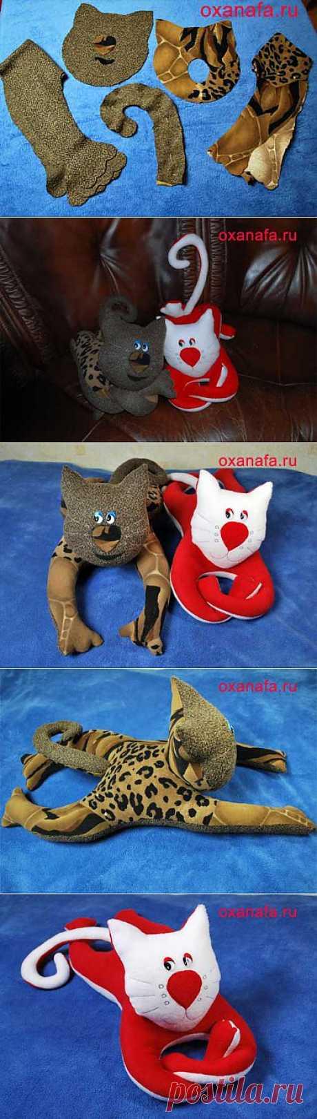 Мягкая игрушка кота своими руками. » Рукоделие своими руками.