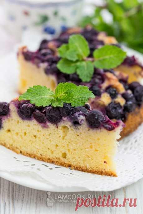 Пирог с замороженной черникой — рецепт с фото на Русском, шаг за шагом. Пирог готовится из простых продуктов, которые есть в каждом холодильнике. #рецепт #пирог #выпечка #пироги #кчаю #чаепитие #пирог_с_ягодами #фруктовый_пирог