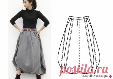 Выкройка юбки в стиле бохо   Готовые выкройки и уроки по построению на Выкройки-Легко.рф