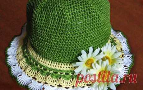 Детская шляпка крючком — Попкорн — детское вязание спицами и крючком