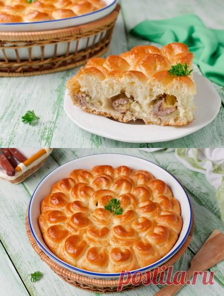 Пирог с мясом «Хризантема» - Mail Леди