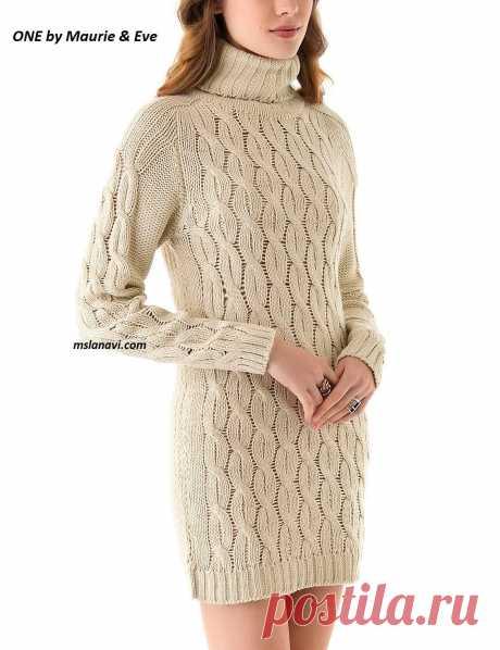Платье реглан-погон | Вяжем с Лана Ви