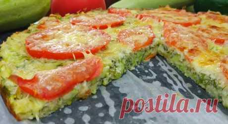 Идеальное летнее блюдо: аппетитная пицца из кабачка