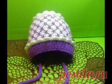 Knitting by spokes a hat on an extract #150