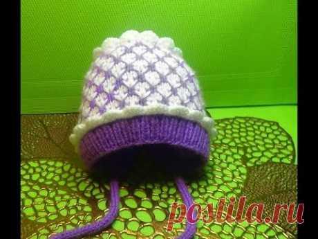 Инструкция вязания шапок спицами для