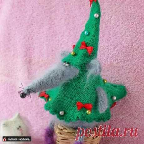 Крыса подарок новогодняя игрушка для интерьера ручной работы купить в Минске и Беларуси, цены на HandMade