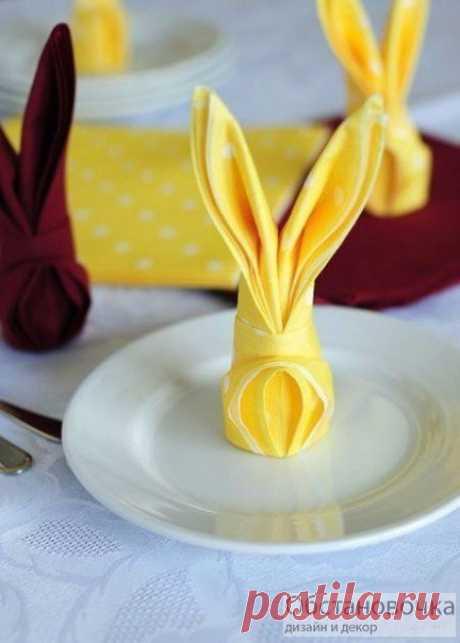 """Салфетка """"Кролик"""" станет прекрасным декором стола!"""