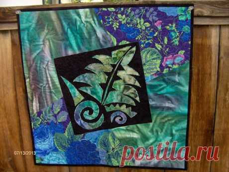 Funky Fern Quilt | Small wall hanging I made to try out a Ri… | Flickr