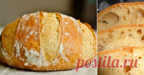 Домашний хлеб без замеса: рецепт прост как раз, два, три. Пышный, душистый, с хрустящей корочкой