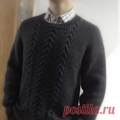 原型制图编织男士棒针落肩袖套头毛衣-编织教程-编织人生