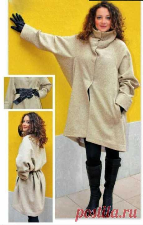 Выкройка объёмного пальто / Простые выкройки / ВТОРАЯ УЛИЦА - Выкройки, мода и современное рукоделие и DIY