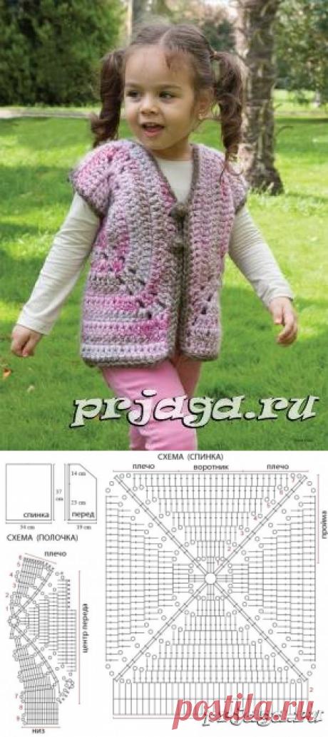Вязание безрукавка для девочки мотивы - svjazat.ru