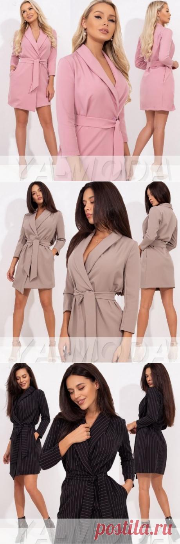 ✫Платье пиджак с поясом купить недорого