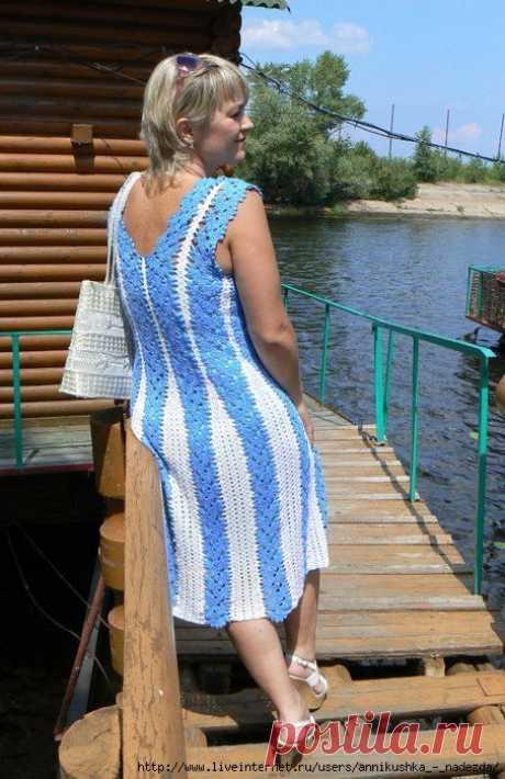Платье - сарафан из ленточного кружева