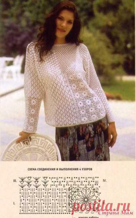 .Пуловер из четырех мотивов.