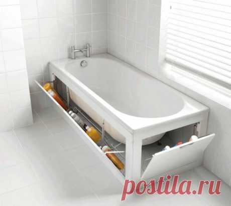 Идеи для экрана под ванную — Роскошь и уют