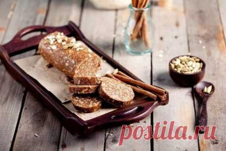 """Десерт """"Салями с арахисовым маслом"""" - Кулинарный рецепт - Повар в доме"""