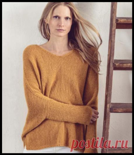 Подарок от Lana Grossa — бесплатное описание пуловера из журнала Lookbook