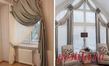 Идеи, как оригинально оформить окно текстилем Идеи как оригинально оформить окно текстилем.                                     Источник:sdelaisam.mirtesen.ru