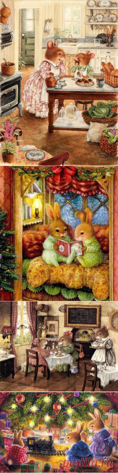 Зимняя сказка от художницы Susan Wheeler