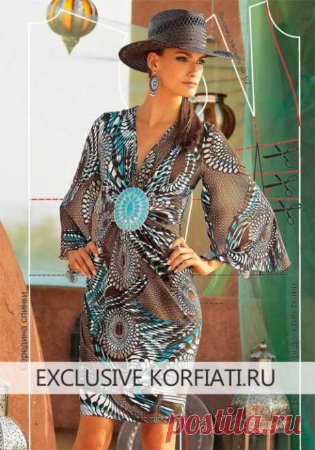 Как сшить трикотажное платье - выкройка Анастасии Корфиати
