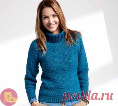 Красивый пуловер крючком плотной вязкой из категории Интересные идеи – Вязаные идеи, идеи для вязания